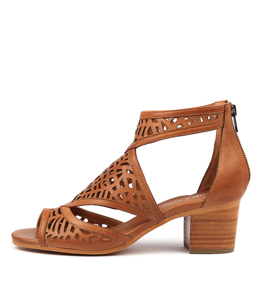 BEREOTO Sandals Dark Tan Leather Django and Juliette