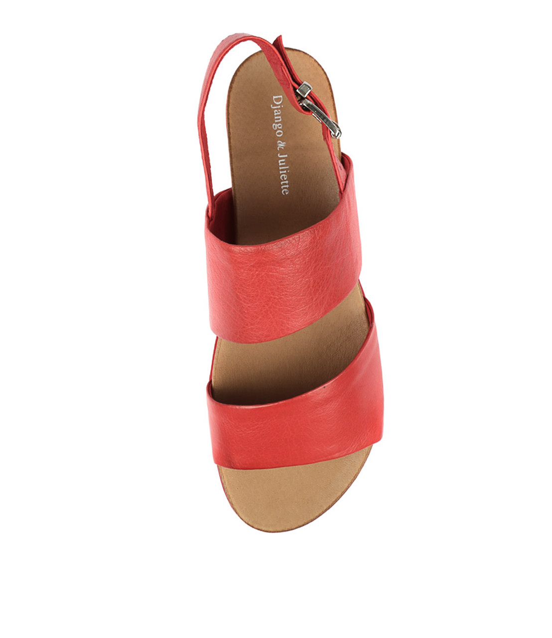 CARINA Sandals Red Leather Django and Juliette