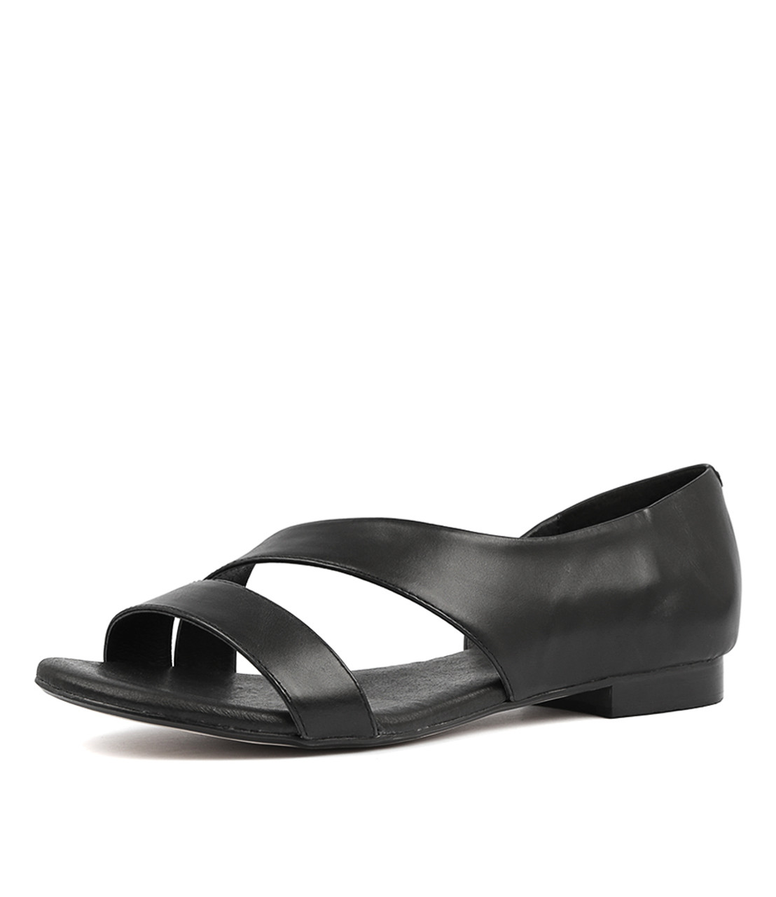 PURL Sandals Black Leather Django and Juliette