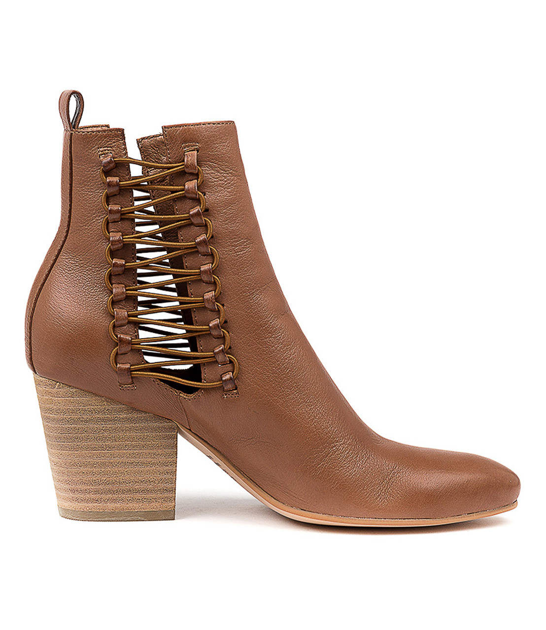 e5589fccc7f ISHMAEL Ankle Boots in Cognac Leather - Django and Juliette