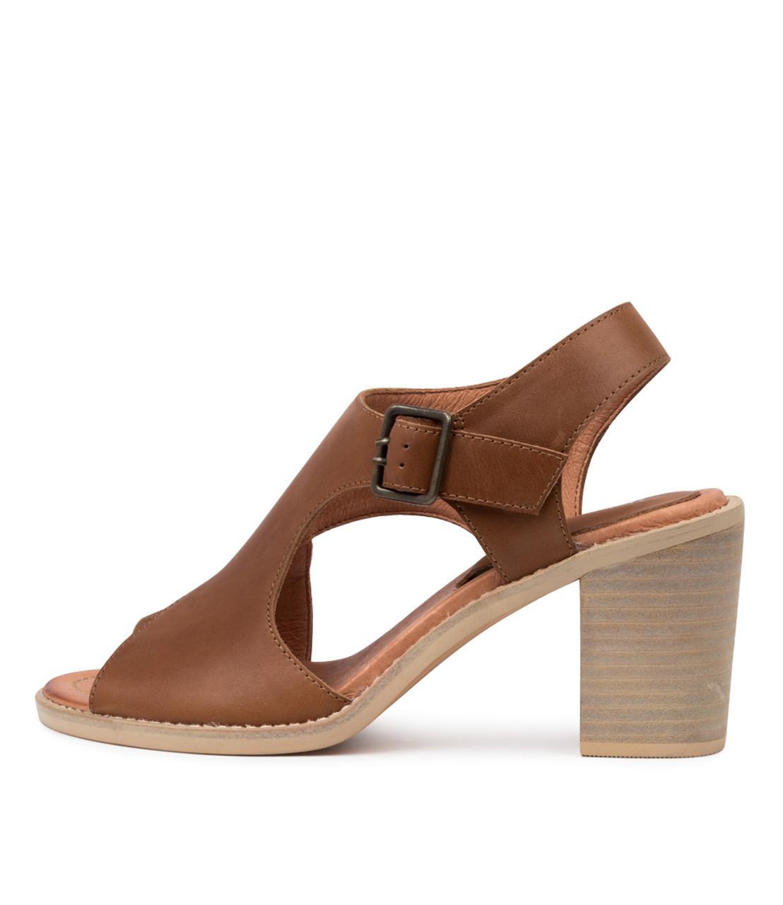 TOLLIET Sandals Dark Tan Leather Django and Juliette