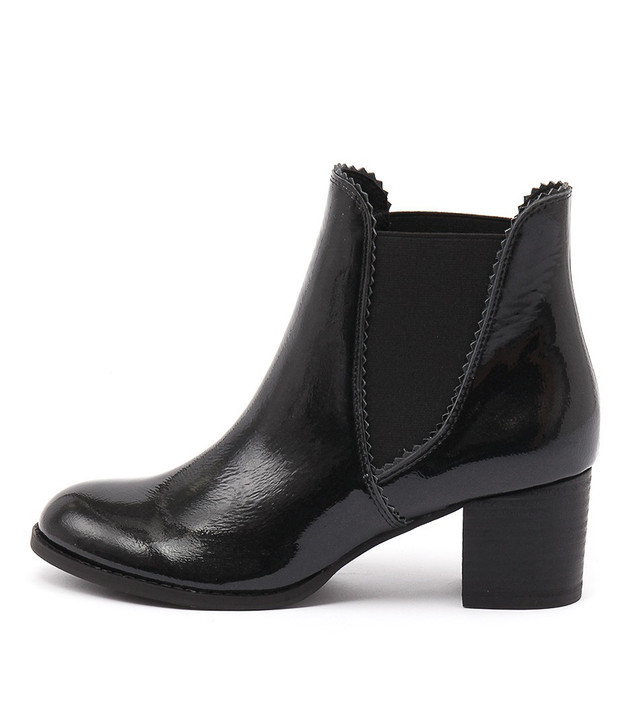 SADORE Boots Black Patent Leather
