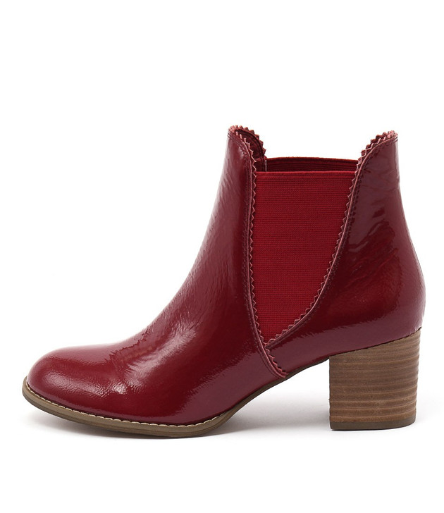 SADORE Boots Red Patent Leather