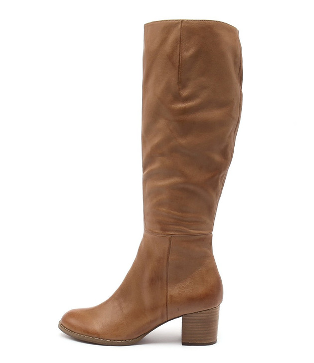 SLED Boots Dark Tan Leather