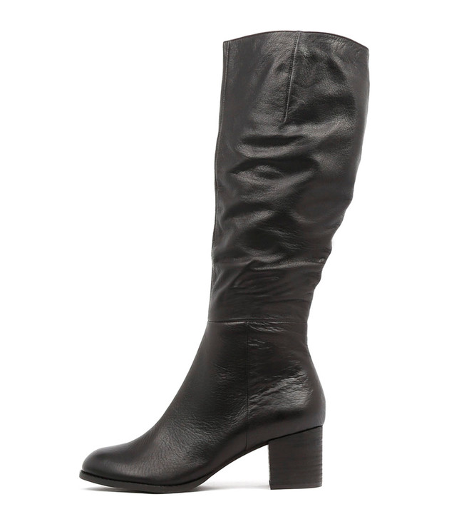 SLED Boots Black Leather