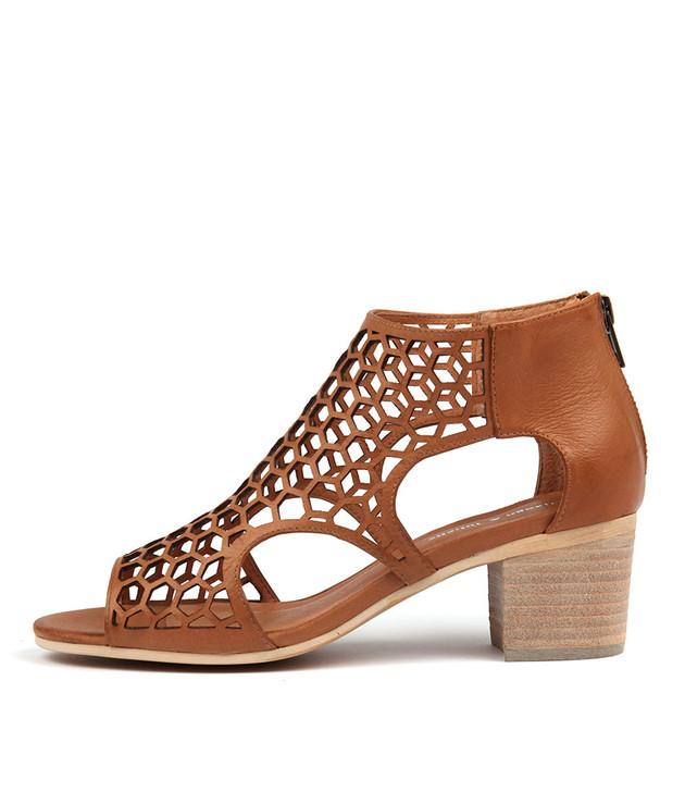 BOSTIK Heels Sandals Dark Tan Leather