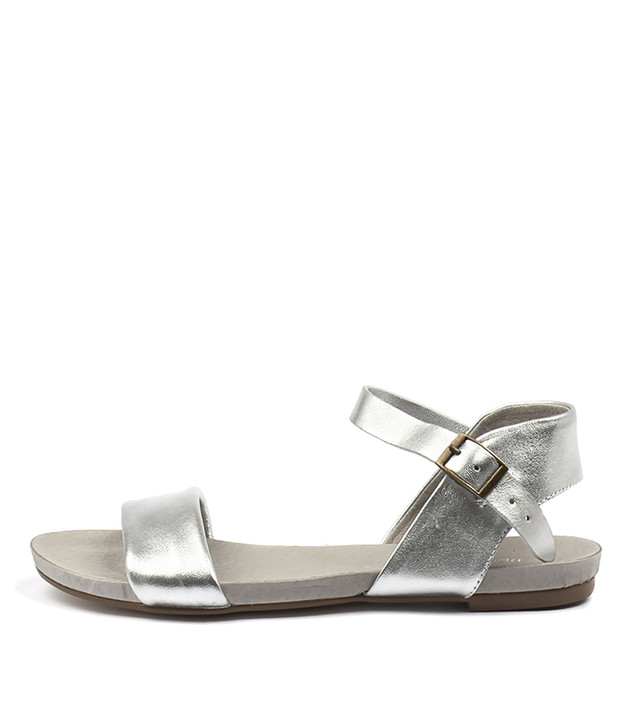 JINNIT Sandals Silver Leather