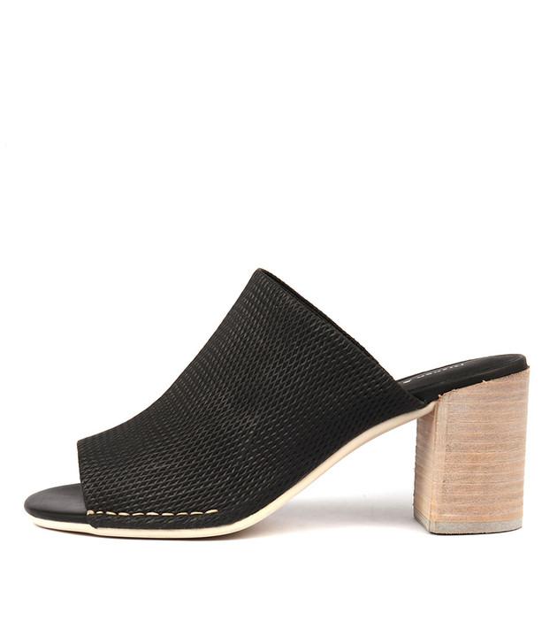 DARLENE Heels Sandals Black Leather