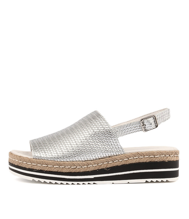 ADIDAH Silver Leather