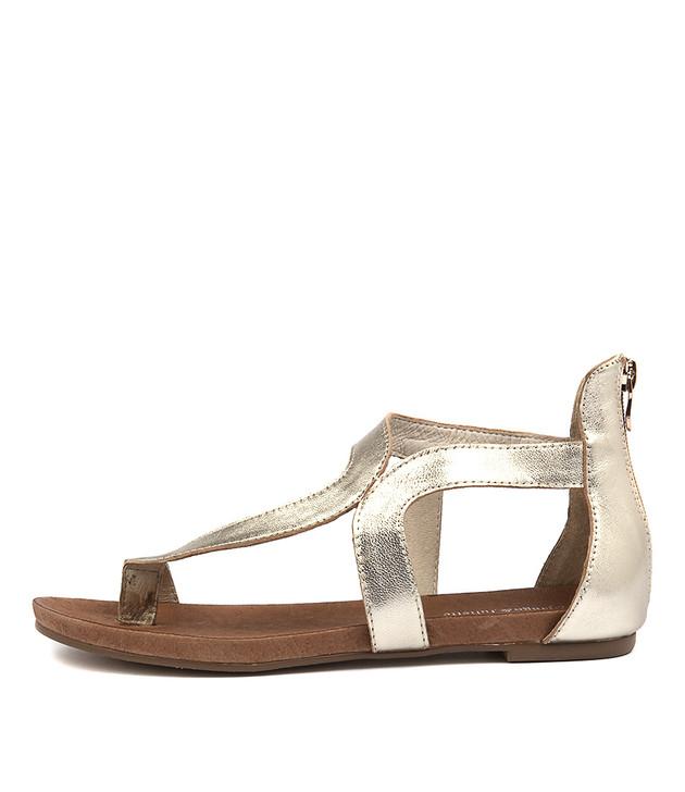 JACKSON Sandals Pale Gold Leather