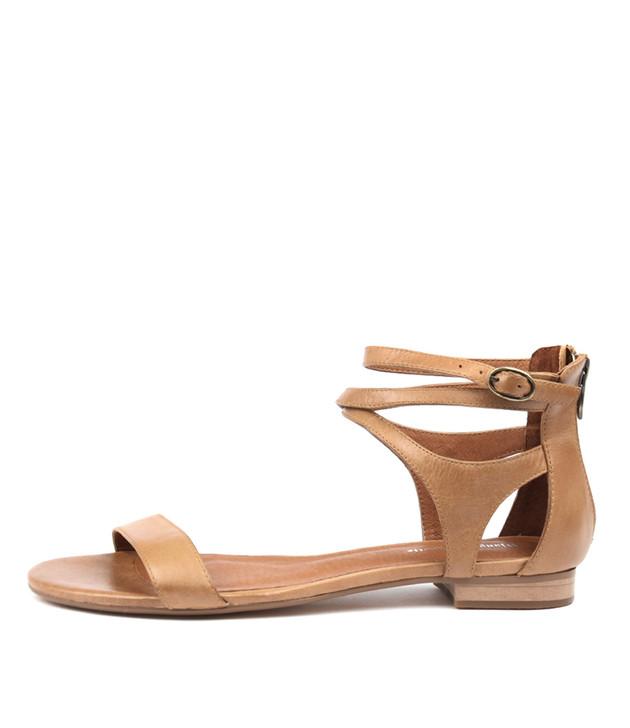 PLEASE Sandals Tan Leather