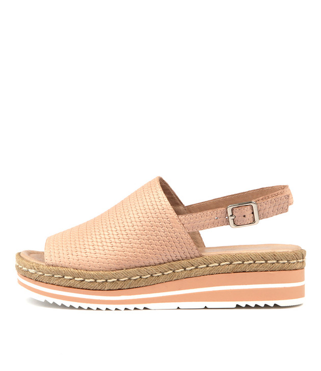 ADIDAH Sandals Flatform Sandals Nude Leather