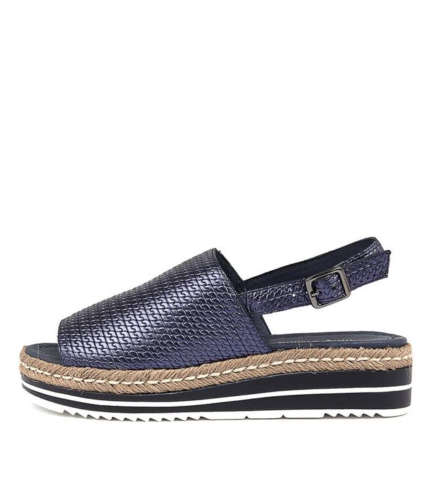 ADIDAH Sandals Flatform Sandals Navy Metallic