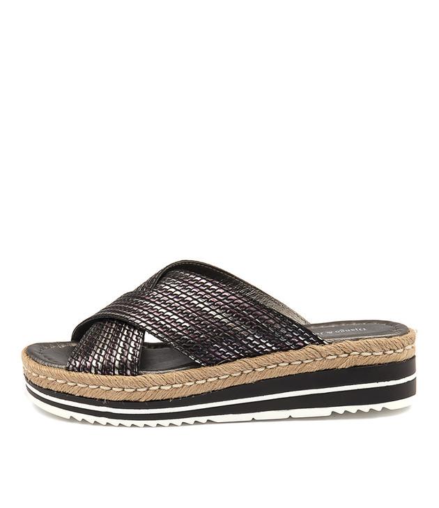 ADEEMUS Sandals Flatform Sandals Pewter Black