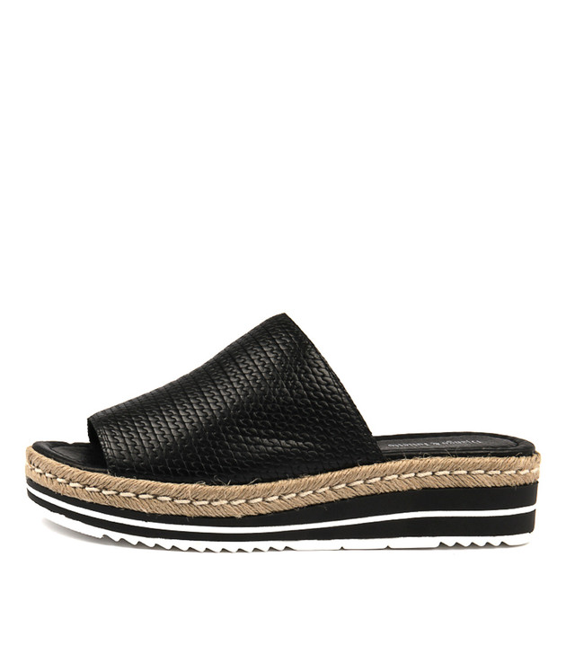 ACCENT Sandals Flatform Sandals Black Leather
