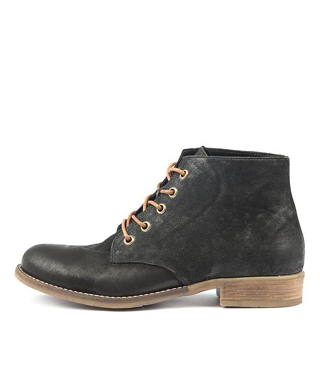 COACHEL Boots Boots Black Nubuck Leather