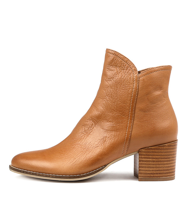 MOCKAS Boots Dark Tan Leather