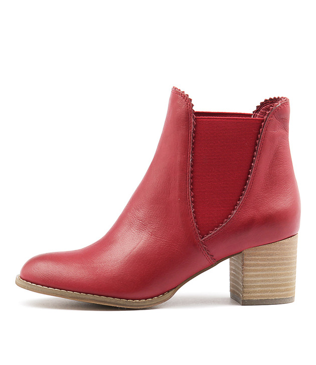 SADORE Boots Red Leather