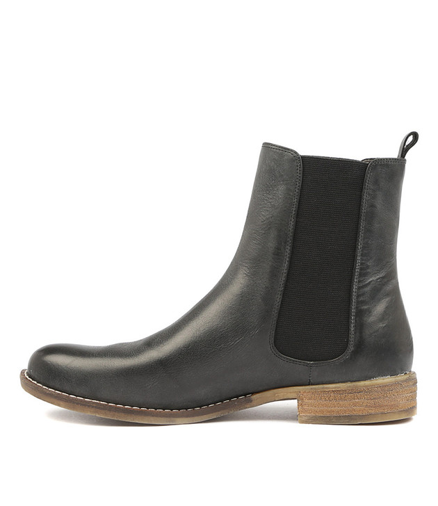 COLLAS Boots Black Leather