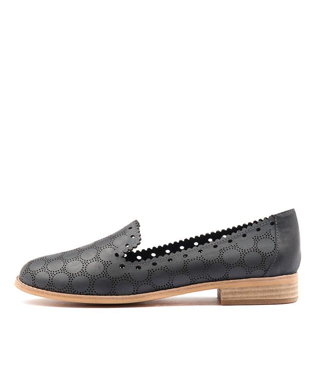 ANTARCTIC Flats Navy Leather