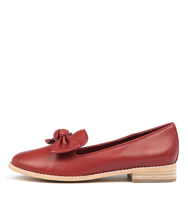 ALANISA Flats Red Leather