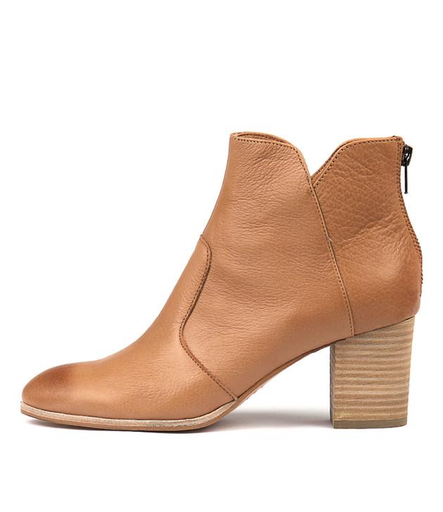 DAYZETTE Boots Dark Tan Leather