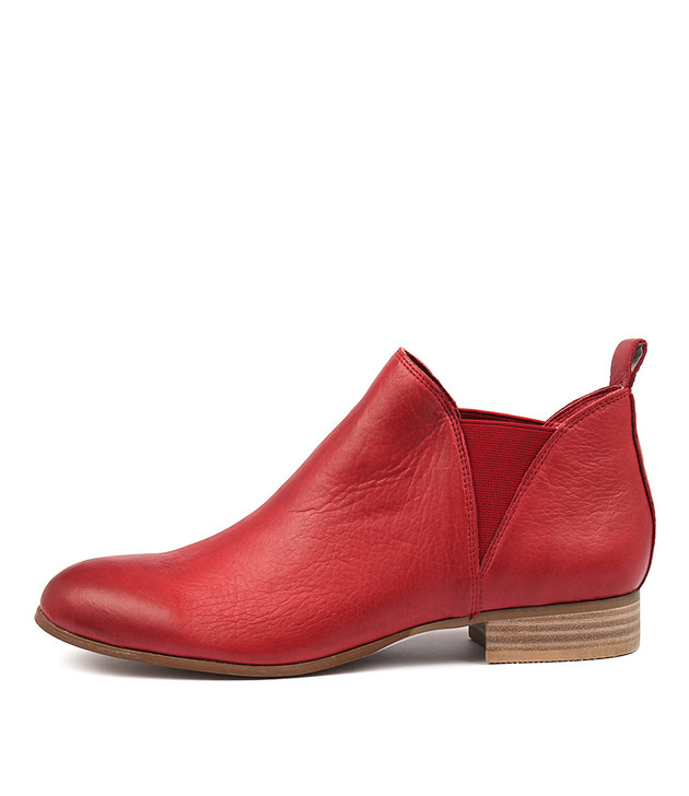 FOE Boots Red Leather