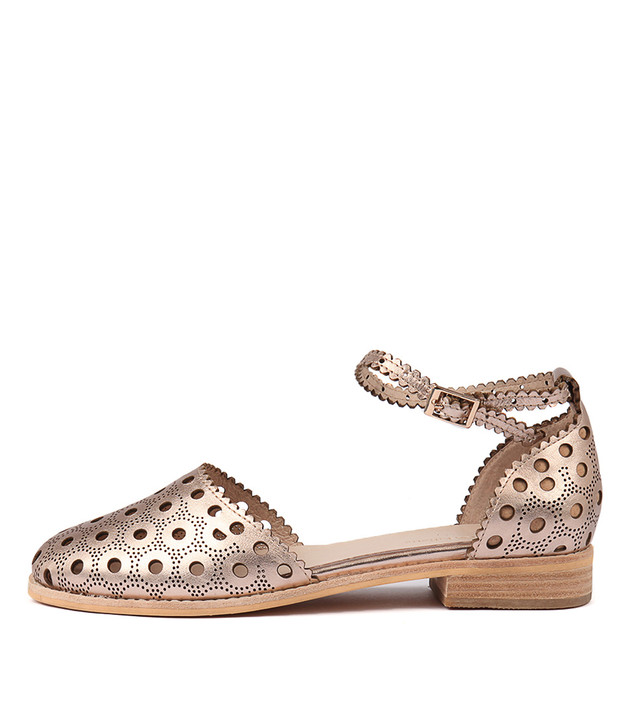 ANISSA Flats Champagne Leather