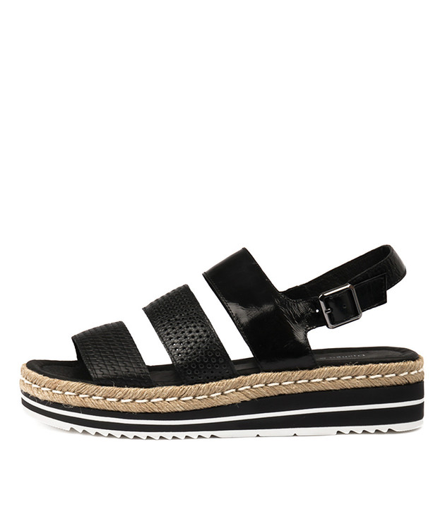 AKIDNA Sandals BlackMix Leather