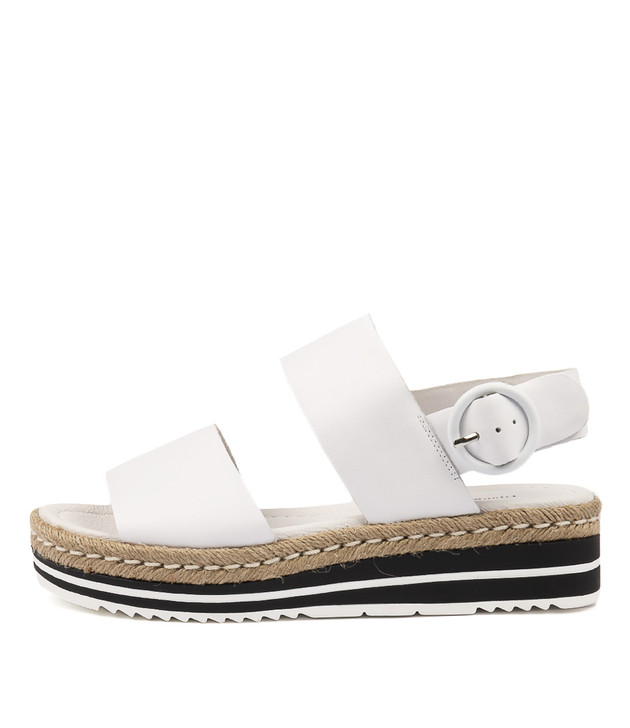 ATHA Sandals White Leather