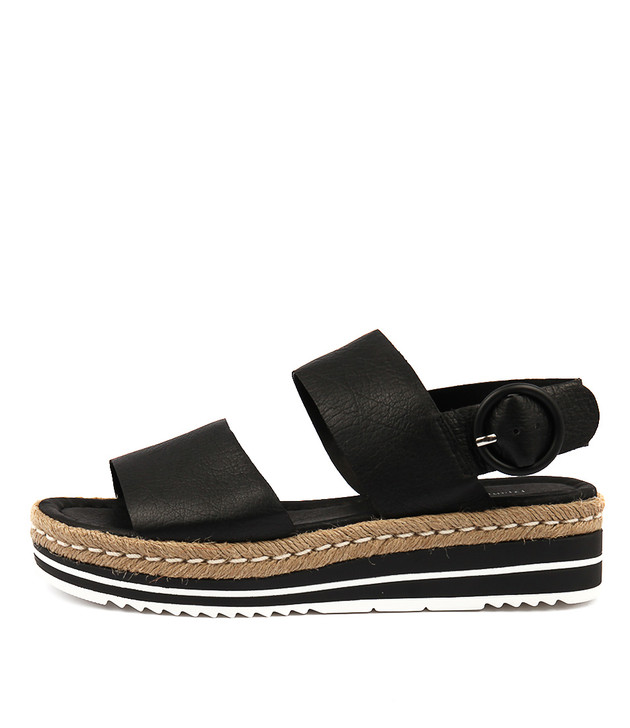 ATHA Sandals Black Leather