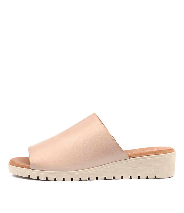 MERRIES Sandals Pale Pink Leather