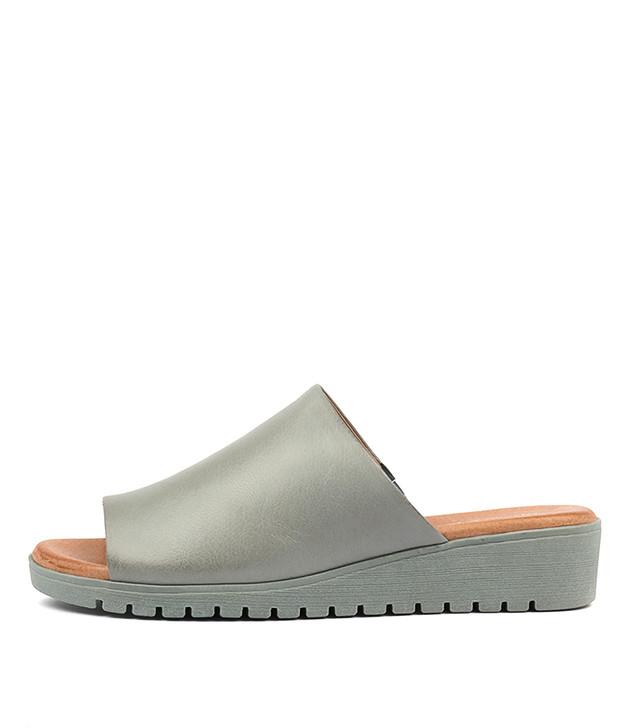 MERRIES Sandals Steel Leather