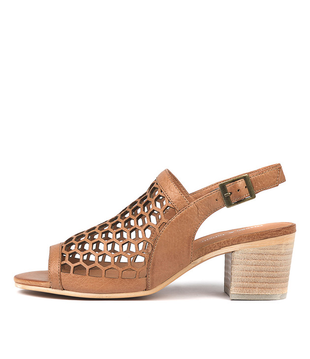 BIKKIS Sandals Dark Tan Leather