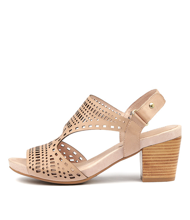 ZOLLIE Sandals Nude Leather