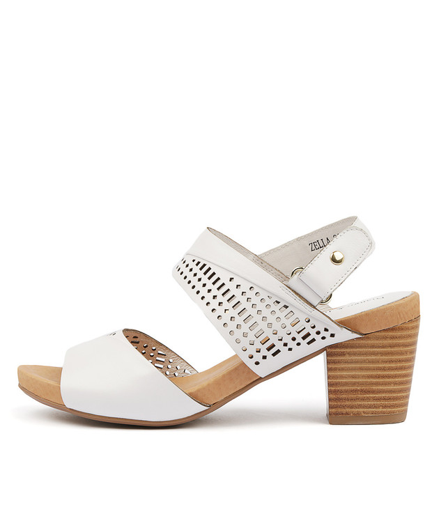 ZELLA Sandals White Leather