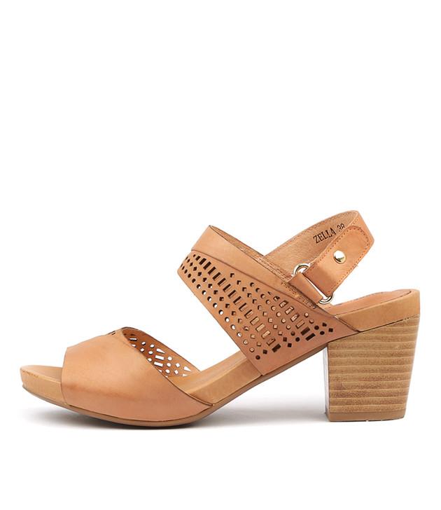 ZELLA Sandals Cantaloupe Leather