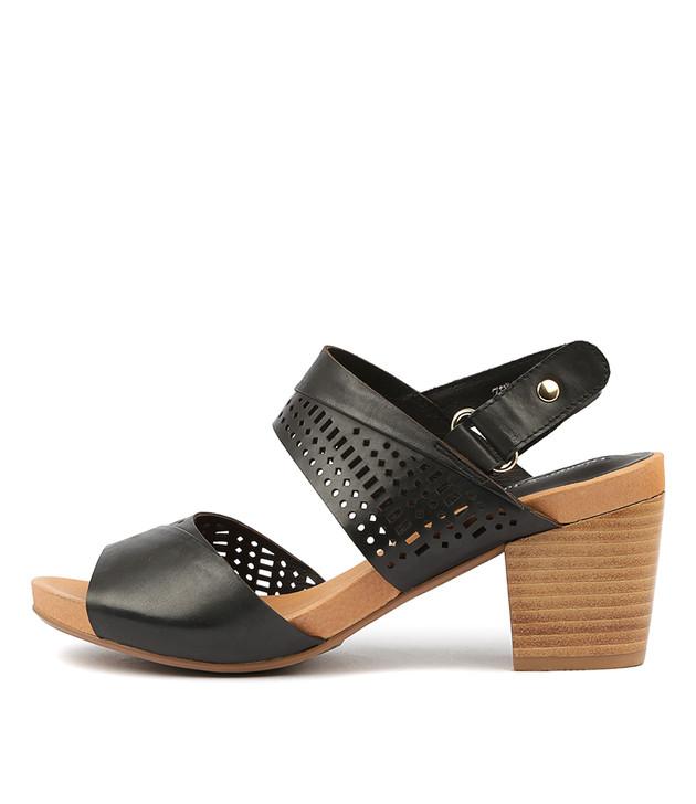 ZELLA Sandals Black Leather