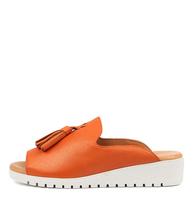 MAYSON Sandals Orange Leather