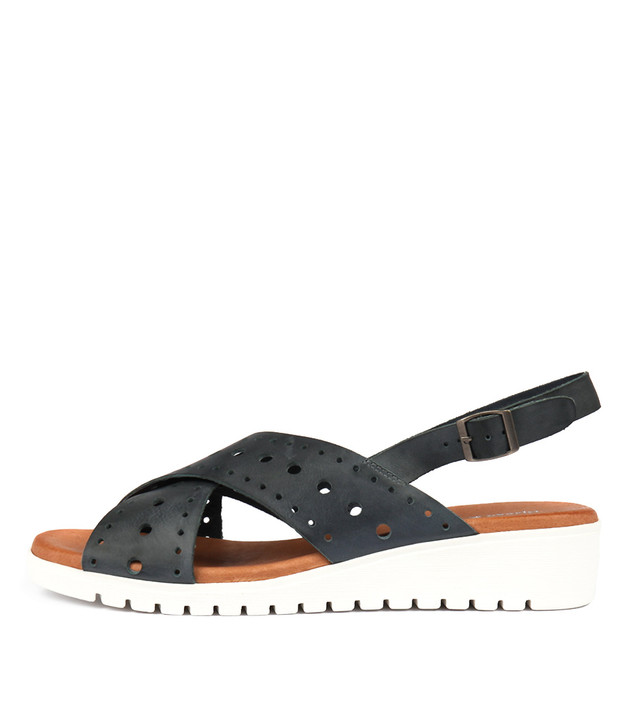 MELIZA Sandals Navy Leather