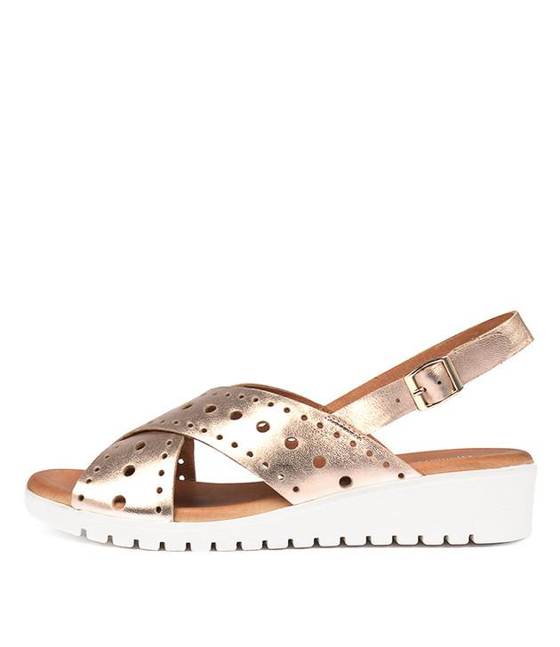 MELIZA Sandals Rose Gold Leather