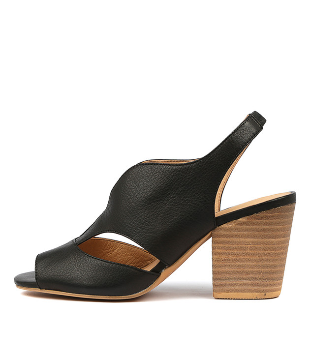WERNER Heels Sandals Black Leather