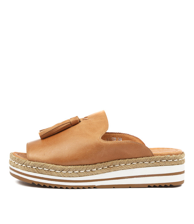 AYDEN Sandals Sandals Tan Leather