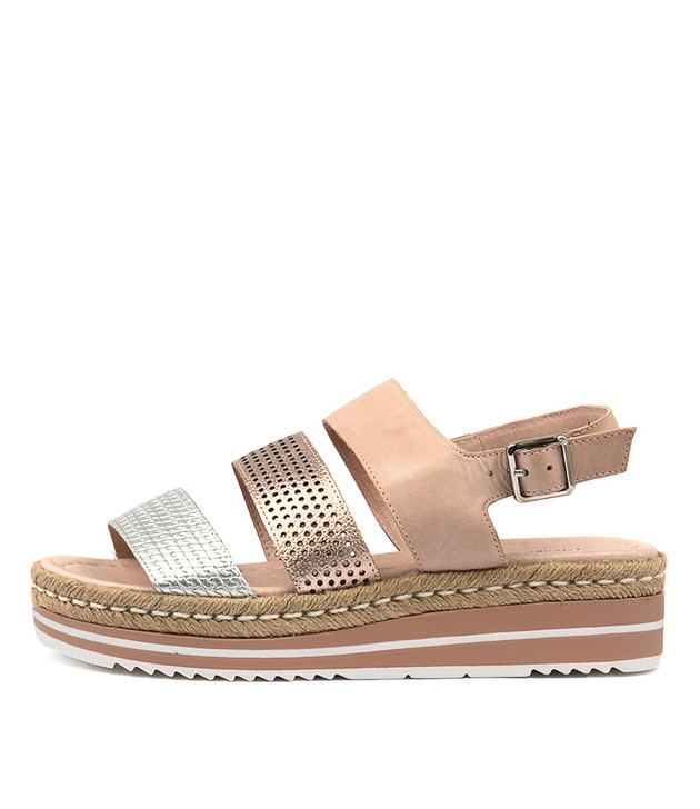 AKIDNA Sandals Sandals Nude Champagne Leather