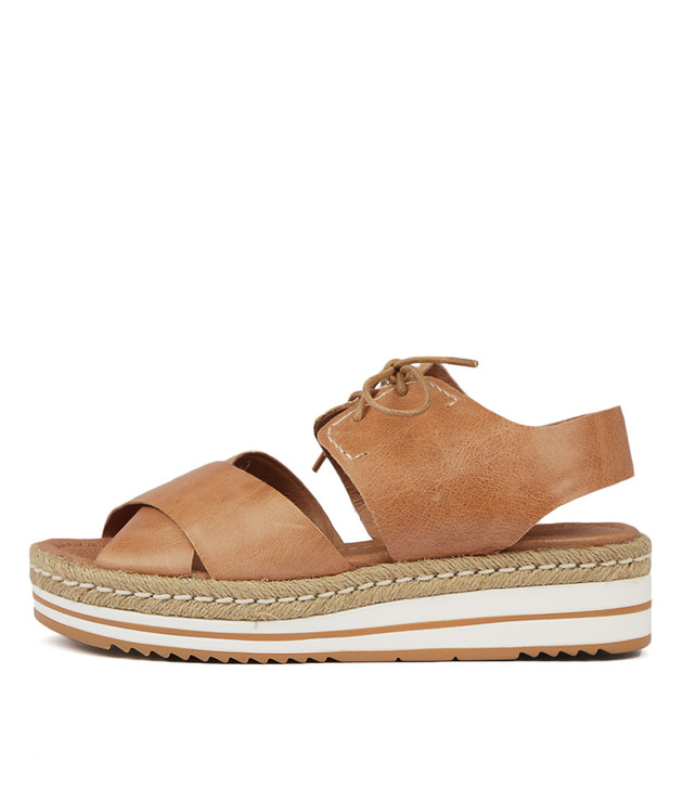 AVIE Dark Tan Leather