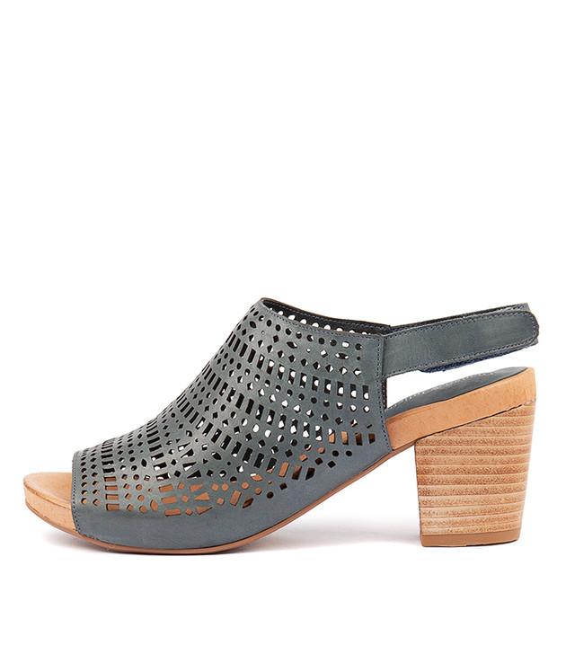 ZARIAH Heels Sandals Navy Leather