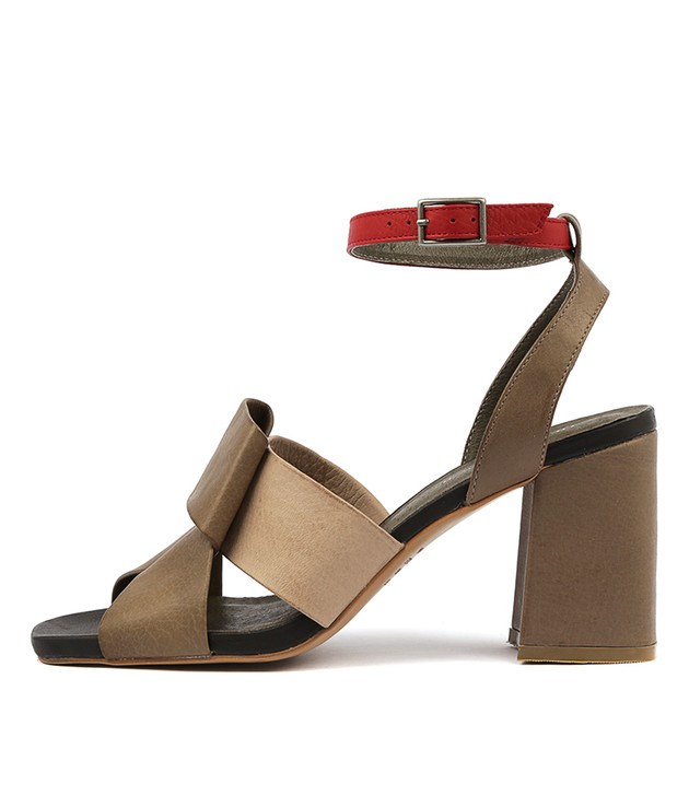 RENARD Heels Sandals Khaki Multi Leather