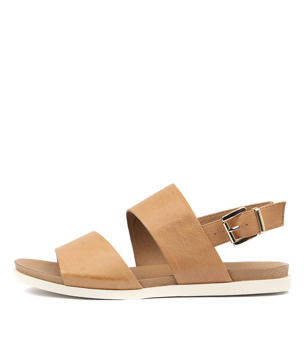 CARINA Sandals Dark Tan Leather