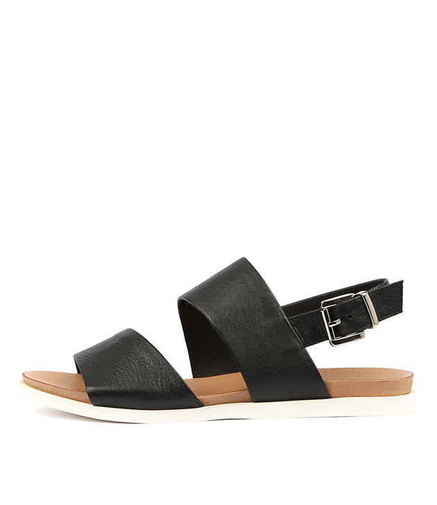 CARINA Sandals Black Leather