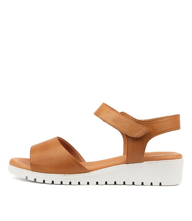 MULTON Sandals Dark Tan Leather